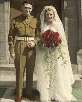 Mein-Proud wedding at St James Church in Benwell, Newcastle in 1951