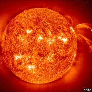 Sun observed by the Soho satellite