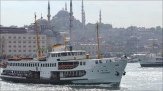 Ferry sailing from Istanbul