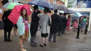 Race-goers at Ladies' Day