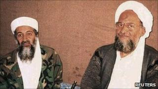 Osama Bin Laden (left) and Ayman al-Zawahiri (file photo)
