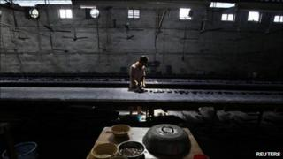 Worker in a Chinese factory