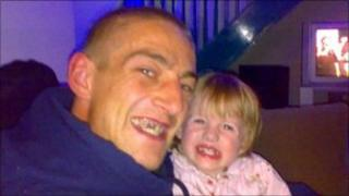 Michael Lofthouse with his daughter