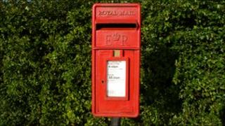 Post-box on the A16 near Sibsey, Boston