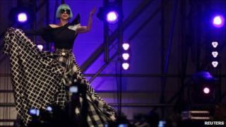 Lady Gaga in concert in Rome