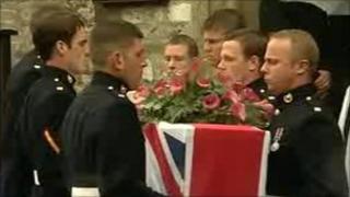 Funeral of Marine Sam Alexander