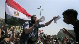 Protest in Tahrir Square, Cairo. 20 May 2011