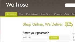 Waitrose online delivery website