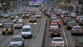 Traffic in Moscow (file image)