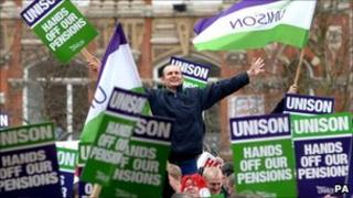 Council and public sector workers on strike in Birmingham in March 2006