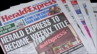 Herald Express paper