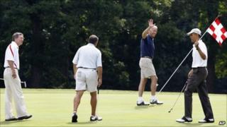 (L-R) John Kasich, John Boehner, Joe Biden, Barack Obama