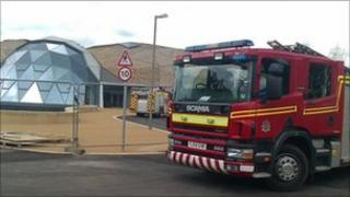 Fire crews attended an explosion at the Pods Leisure Centre, Scunthorpe