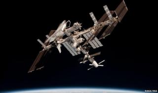 ATV at ISS (Nasa/ESA)