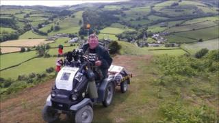 Mark Newton on top of Hergest Ridge