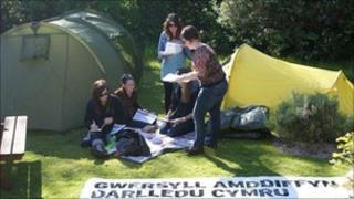 Cymdeithas yr Iaith camp in Bangor