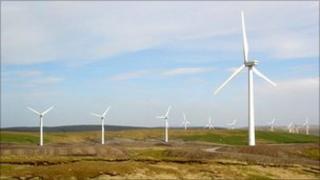 Cefn Croes Wind Farm near Devil's Bridge, Ceredigion