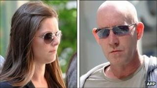 Jennifer Green and Steven Malcolm arriving at Manchester Magistrates Court