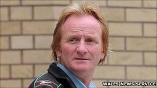 Brian Gallagher leaves court after being banned from driving