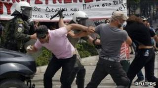 rioters in Athens