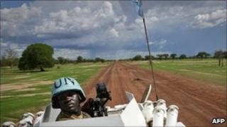 UN peacekeeper in Abyei (file photo)