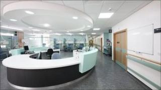 The new nurses station at The James Cook University Hospital