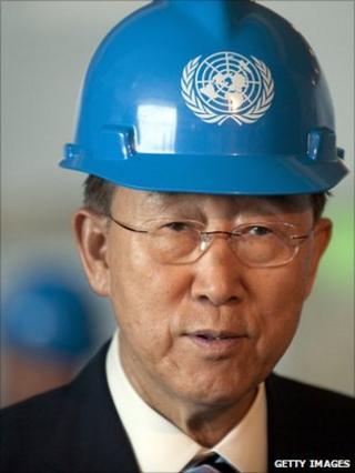 Ban Ki Moon in the United Nations Trusteeship Council chambers June 9, 2011