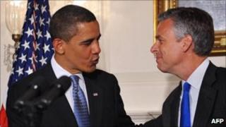 Jon Huntsman and Barack Obama