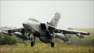 RAF Tornado taking off