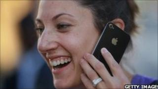 Woman with iPhone