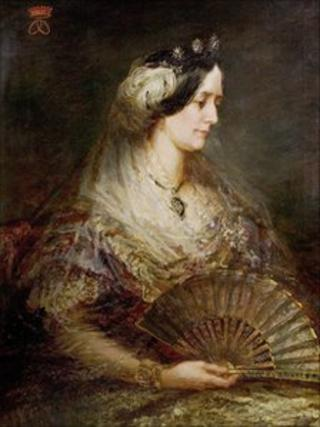British (English) School, Lady Ossington (1806–1889) 1863, oil on canvas 100 x 70, Newark and Sherwood Museum Service