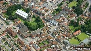 Aerial view of North Walsham (Photo: Mike Page)