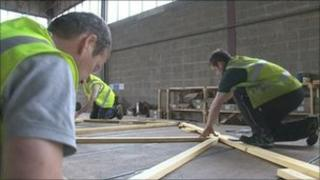 Workers at Harmony Timber Solutions in Canterbury