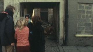 Pte Barlow was shot in this alleyway in 1973