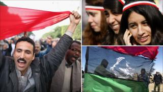 montage of Arab Spring images