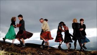 Aonach Mor ceilidh dancers