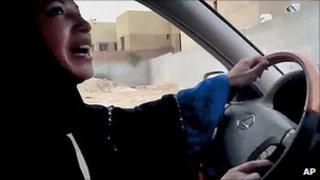 Saudi woman drives car in defiance of public ban. 17 June 2011