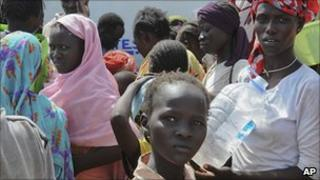 People in Kadugli, capital of Southern Kordofan, who have fled violence in the state this month