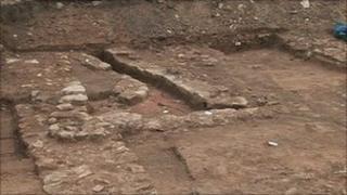 Roman excavation in York