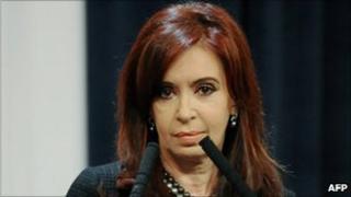 Cristina Fernandez de Kirchner on 21 June 2011