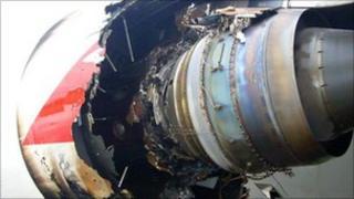 Damaged A380 engine on Qantas plane
