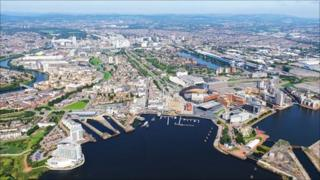 Picture of the Cardiff skyline
