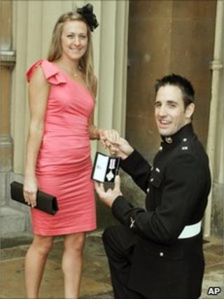 Rebecca Daniel and her new fiance Marine Mark Jackson