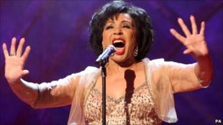 Dame Shirley Bassey performing at the 2011 Classical Brits Awards