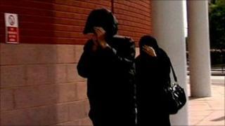 Mohammed Karolia and Nafisa Karolia arrive at Preston Crown Court