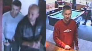 CCTV images of three men