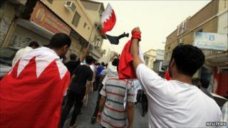 Shia protest in Manama on 3 June, 2011