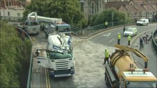 Scene of the crash in Bristol