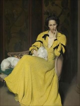 Gunn, Sir Herbert James 1893-1964 : Pauline in the Yellow Dress 1944