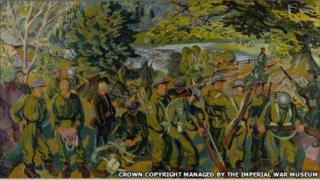 Grasmere Home Guard painted by Gilbert Spencer